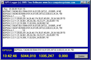 GPS-Datenlogger 1.0 gps datenlogger logging koordinaten satellit navigation navi delphi Screenshot GPS Datenlogger